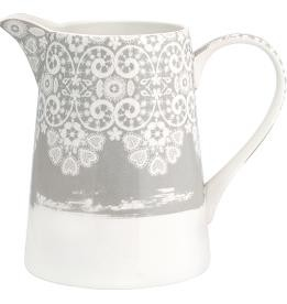 Greengate Krug 1 l Lace warm grey