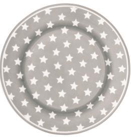 Greengate Frühstücksteller Star warm grey