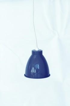 Deckenlampe klein Emaille look grau von Chic Antique