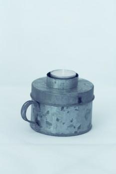 Kerzenhalter - Dose zink für Teelichter von Ib Laursen