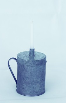 Kerzenhalter - Dose mittel zink von Ib Laursen