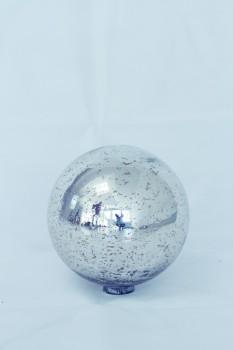Dekokugel Rustique Glas - silber Ø 15 cm