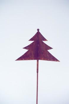 Gartenstecker Weihnachtsbaum Edelrost