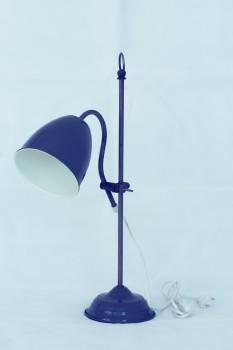 Tischlampe Emaille look grau von Chic Antique