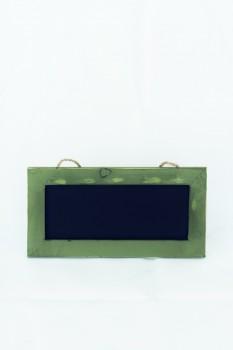 Kreidetafel klein mit grünem Holzrahmen