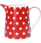 Greengate Krug 0,5 l Star red
